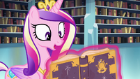 Cadance reads the Spell of Relic Reconstitution S6E2