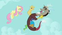 """Discord and Fluttershy """"you're hilarious!"""" S03E10"""