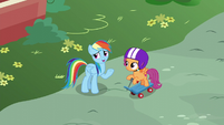 """Rainbow """"one of the real Wonderbolts can't fly"""" S6E7"""