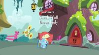 Rainbow Dash bounces to the library S4E04