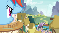 Rainbow Dash looking into the distance S4E16