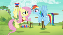 Rainbow asks Fluttershy if she's ready S6E18