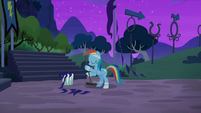 Rainbow sweeping up the performance grounds S6E7