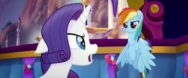 "Rarity ""don't you dare, Rainbow Dash!"" MLPTM"