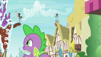 Spike watches Thorax fly away S7E15
