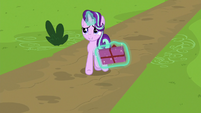 Starlight Glimmer arrives with a gift box S9E26