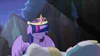 Twilight cries over Princess Celestia's body S4E02