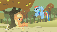 Applejack chewing hay S01E13