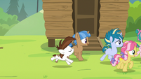 Cutie Mark Day Campers gallop after Rumble S7E21