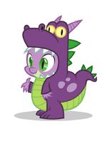 Promotional Facebook Halloween 2011 Spike dragon