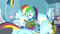 Rainbow Dash starts reading Daring Do SS12