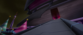 Something appears from the airship MLPTM