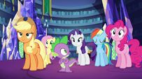 Twilight's friends nod in agreement EG2