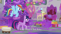 Twilight frees Spike from the purple goo S8E16