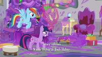 Twilight frees Spike from the purple goo S8E16