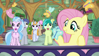 Butterfly lands on Fluttershy's hoof S8E12