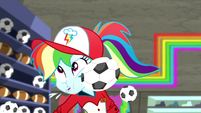 Rainbow Dash hit in the face with soccer ball SS14
