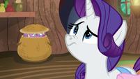 Rarity smelling Spike's molt smell S8E11
