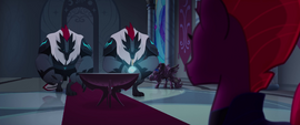 Storm Guards approaching Tempest Shadow MLPTM
