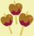 Three caramel apples