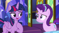 "Twilight ""invited her to come to Ponyville"" S8E1"