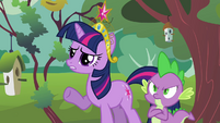 Twilight concerned and Spike fuming S03E10