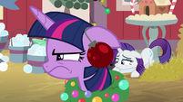 Twilight looking annoyed at Pinkie Pie BGES2