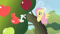 Angel biting into apple S02E01
