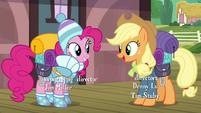 Applejack asks Pinkie if she forgot anything S6E17