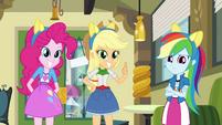 Pinkie Pie, Applejack, and Dash with pony ears EG