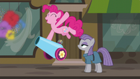Pinkie fires her party cannon with joy S6E3