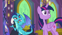 Princess Ember asks about Spike and Starlight S7E15