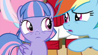 Rainbow wondering who Wind Sprint is S9E6