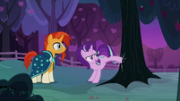 Starlight Glimmer bucking an apple tree S7E24