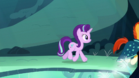 Starlight and Sunburst follow the tapping sound S7E24