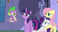 Twilight Sparkle blushing at Spike S9E24