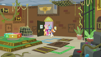 Wide view of Mane Six's escape room S7E2
