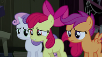 Apple Bloom asking -are you Trouble Shoes-- S5E6