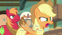 "Applejack in angry disbelief ""why?!"" S7E13"