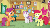 Cutie Mark Crusaders pleased with themselves S7E6