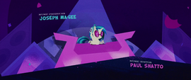 DJ Pon-3 playing music in the credits MLPTM