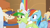 Granny Smith vouching for Rainbow Dash S8E5