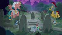 Pillars of Old Equestria find Stygian at Ponhenge S7E26