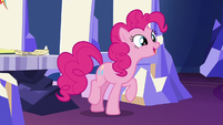 Pinkie Pie hopping with ecstatic joy S7E11