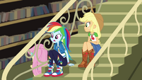 Rainbow Dash asks Fluttershy if she's okay CYOE2