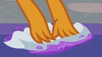 Smolder cleaning up purple goo S8E16
