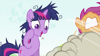 Twilight Sparkle looking at CMC fighting S2E03