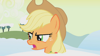 Applejack angry at Twilight S1E11