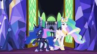 Celestia and Luna make dramatic entrance S9E13