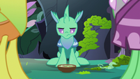 Changeling 3 looking down at soup S7E17
